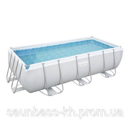 Каркасний прямокутний басейн Bestway 56441 (404х201х100 см) з картриджних фільтрів та сходами