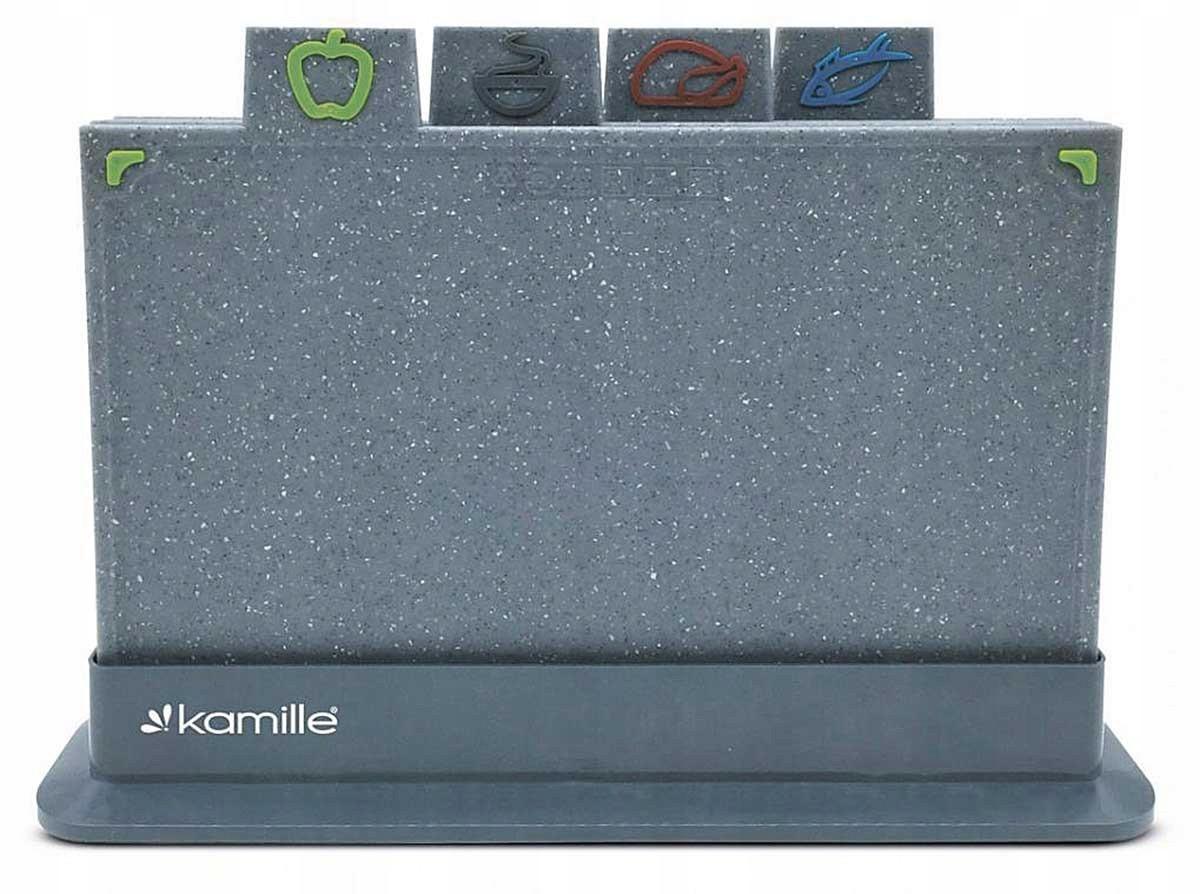 Набор разделочных досок Kamille с подставкой 29 х 19,5 см (KM 10073)