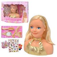 Кукла-бюст для причесок и макияжа Princesse 69815 с аксессуарами