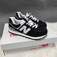 Женские кроссовки New Balance 574 черные Размеры : 37 38 39 40 41