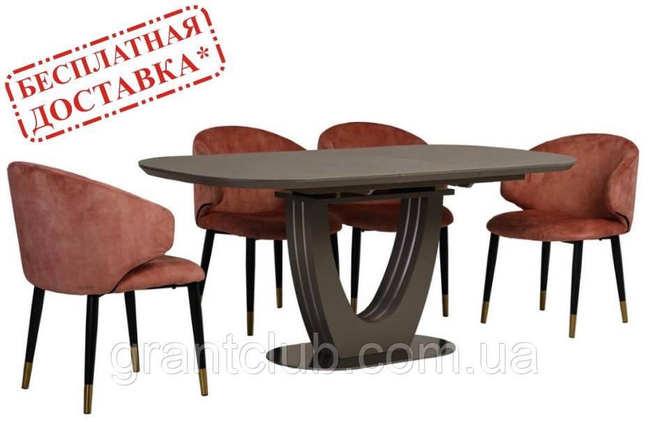 Стол TML-865 серый топаз керамика 140/180х85 (бесплатная доставка)