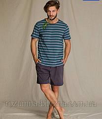 Піжама чоловіча футболка+шорти в смужку. ТМ Key. L