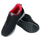 Кроссовки мужские черные с красными стельками LaVento, фото 3