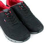 Кроссовки мужские черные с красными стельками LaVento, фото 4