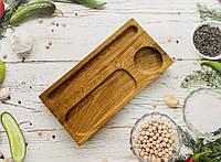 Дерев'яне блюдо для подачі суші 30х15