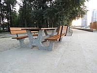 """Садовый комплект """"Гарден"""" со спинкой,удичная мебель,садовая мебель.скамейки для детского сада,уличные скамейки"""