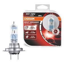 Лампа галогенна 12V 55W H7 PX26D NightBreaker Unlimited +110% (2 шт)(Osram) 64210NBU_HCB_DUO