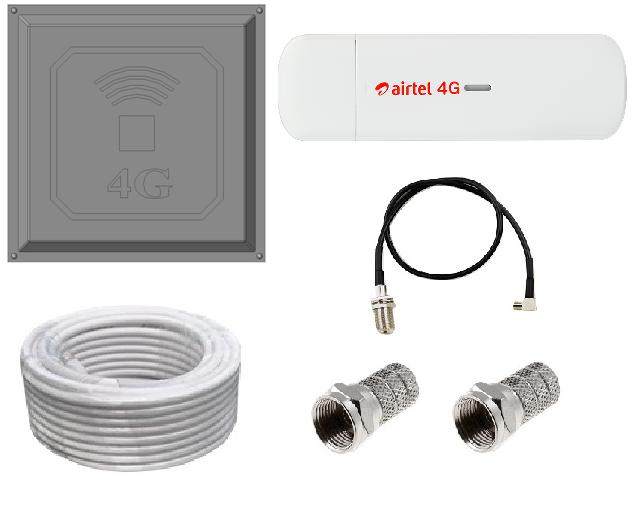 Комплект Модем 3G 4G LTE ZTE MF833V с антенной КВАДРАТ 17 дБи