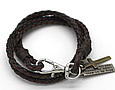Модный кожаный браслет с крестиком для подростка, фото 6