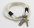 Модный кожаный браслет с крестиком для подростка, фото 7