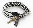 Модный кожаный браслет с крестиком для подростка, фото 8