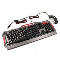 Клавиатура Led Gaming Keyboard с мышкой K33 Черная 179312