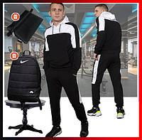 """Мужской спортивный костюм черный с капюшон , кофта и штаны, костюм для прогулок  """"Spirited"""" + 2 подарка, фото 1"""