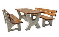 """Стол садовый """"Гарден"""" со скамейками,садовая мебель,уличная мебель,мебель для парков,уличные скамейки,скамейки."""