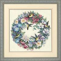 """Набор для вышивания крестом """"Венок с колибри//Hummingbird Wreath"""" DIMENSIONS"""