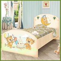 """Подростковая кровать """"Мишка Happy"""" венге светлый"""