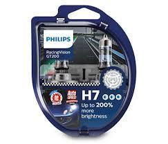 Лампа галогенная12V 55W H7 PX26D (Philips) RACINGVISION GT200 - НА 200%ЗБІЛЬШЕНО СВІТЛОВИЙ ПОТІК 2 шт 12972RGTS2