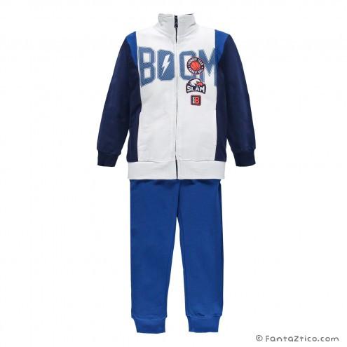 Детский спортивный костюм для мальчика BRUMS Италия 171BFEP002 Синий весенний осенний демисезонный
