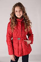 Детская ветровка для девочки Верхняя одежда для девочек RIZZIBOY Италия 1G54F Красный весенняя осенняя