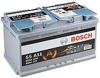 Гелевый авто аккумулятор Bosch S6 AGM 80Аh 0092S60110