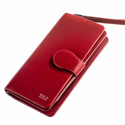 Кошелек Tolo красный, эко кожа, Tolo 3005 red, с ремешком