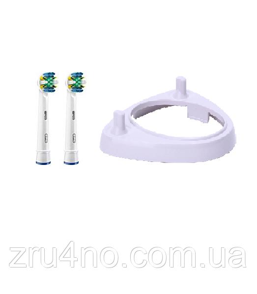 2 насадки для зубної щітки ORAL-B floss action (EB25) + підставка