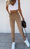 Стрейчевые женские штаны бежевого цвета  024 В / 04, фото 1