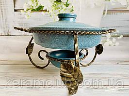 Садж для подачі м'ясних страв Керамклуб зі сковородою з гранітним покриттям 2 л