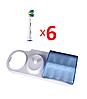 6 насадок для зубной щетки ORAL-B floss action (EB25) + подставка с крышкой