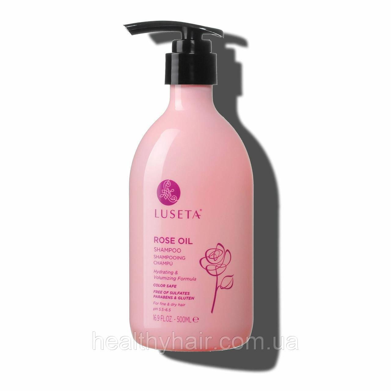 Шампунь для обьема волос Luseta Rose Oil Shampoo 500ml