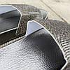 Черные серые шлепки женские тапки летние со стразами камнями резиновые уличные домашние, фото 3