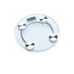 Підлогові ваги побутові до 180 кг електронні портативні із загартованого скла з РК дисплеєм DOMOTEC 2003