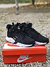 Кроссовки мужские зимние Nike Huarachi acronym Black White Термо, фото 4