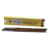 Аромапалочки Golden Nag Vanilla натуральное благовоние с запахом винили