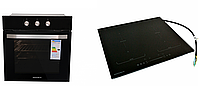 Комплект индукционная варочная поверхность Grunhelm GPI 995 B FLEXI и духовой шкаф Grunhelm GDV 826 B электро