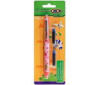 Ручка перова + 2 змінні картриджи рожева Zibi