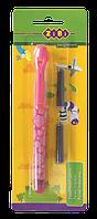 Ручка перова (відкрите перо) + 2 капсули рожевий корпус, KIDs Line ZIBI