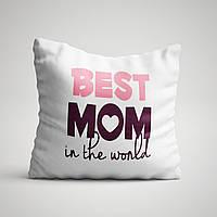 "Подушка с принтом для мамы ""Best MOM in the world"""