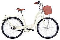 """Жіночий велосипед Dorozhnik Aquamarine 26"""" бежевий"""
