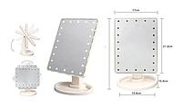 Дзеркало для макіяжу з LED-підсвіткою Magic Makeup Mirror сенсорна кнопка, фото 3