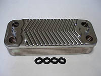 Теплообмінник ГВП вторинний 14 пл Immergas Nike/ Eolo/Mini 24kw, Victrix 24 kw, Nike/ Eolo/ Mini 1.022220