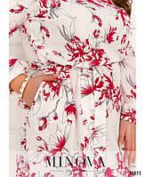 Міді сукні з квітковим принтом з оборкою на подолі з 46 по 68 розмір, фото 6