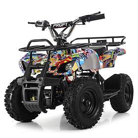 Дитячий (подрастковый) квадроцикл електричний Profi (мотор 800W, 3 акум) HB-EATV800N-NEW8 V3 Графіті