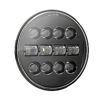 Фара головного світла LED 7 дюймів, кругла, 1 шт, 45 Вт (Нива, УАЗ, Jeep Wrangler, Harley-Davidson, Hummer)