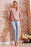 Блуза в повсякденному стилі з креп шифону рожевого кольору Lesya АДЕОЛА, фото 2