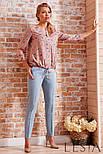 Блуза в повсякденному стилі з креп шифону рожевого кольору Lesya АДЕОЛА, фото 3