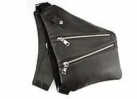 Кобура-сумка мужская кожзам через плечо или на пояс кобура из искусственной кожи черная