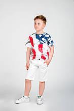 Детские нарядные шорты для мальчика iDO Италия 4.Q456 Белый