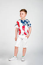 Дитячі нарядні шорти для хлопчика iDO Італія 4.Q456 Білий