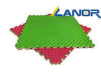 Мат-татамі Lanor ластівчин хвіст (120кг/м3) 26 мм (Туреччина) Червоно-зелений, фото 1